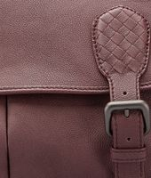 Aubergine Nero Buffalo Leather Metal Gardena Bag