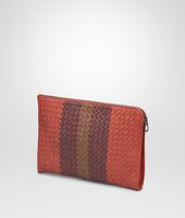Burnt Red Aubergine Edoardo Intrecciato Club Fumé Document Case