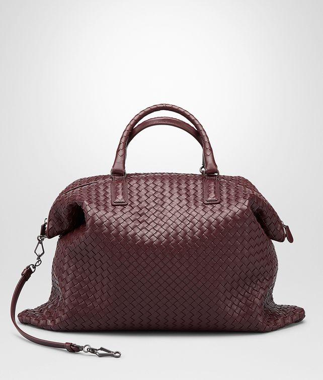 BOTTEGA VENETA AUBERGINE INTRECCIATO NAPPA CONVERTIBLE BAG Top Handle Bag D fp