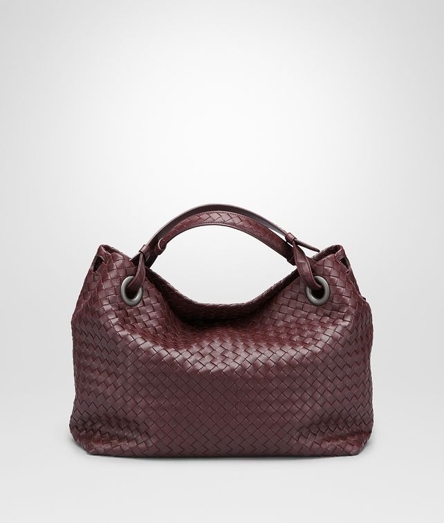 BOTTEGA VENETA Aubergine Intrecciato Nappa Bag Shoulder or hobo bag D fp