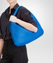 BOTTEGA VENETA SIGNAL BLUE INTRECCIATO NAPPA Large Veneta Shoulder or hobo bag D ap
