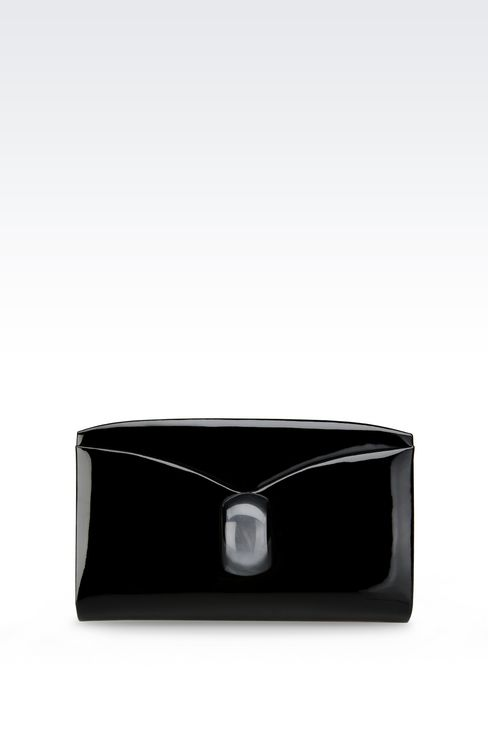 CLUTCH IN CALFSKIN: Clutch bags Women by Armani - 1