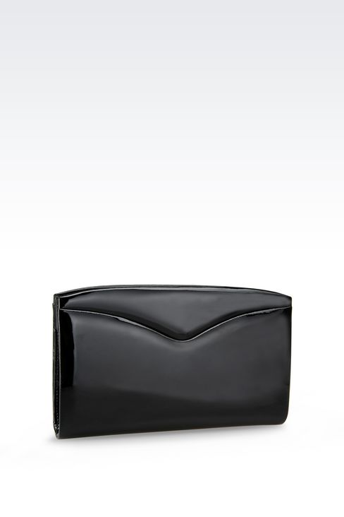 CLUTCH IN CALFSKIN: Clutch bags Women by Armani - 2