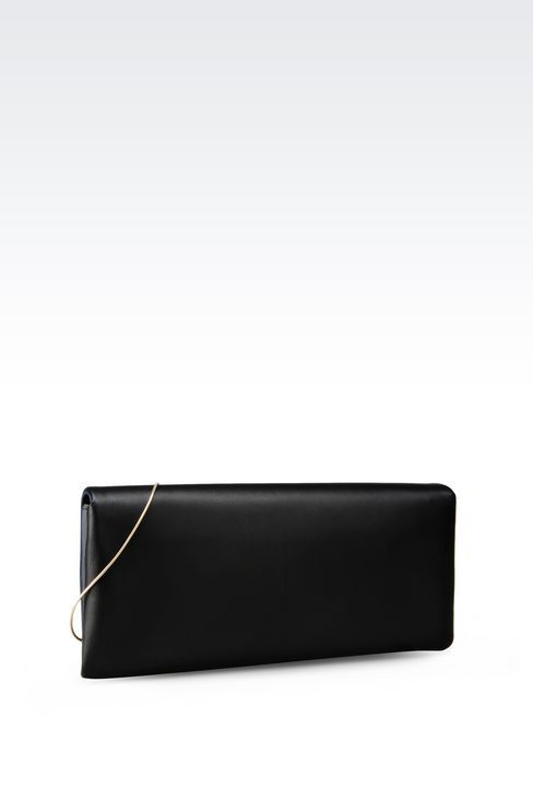 TWO-COLOUR CLUTCH IN LAMBSKIN: Clutch bags Women by Armani - 2