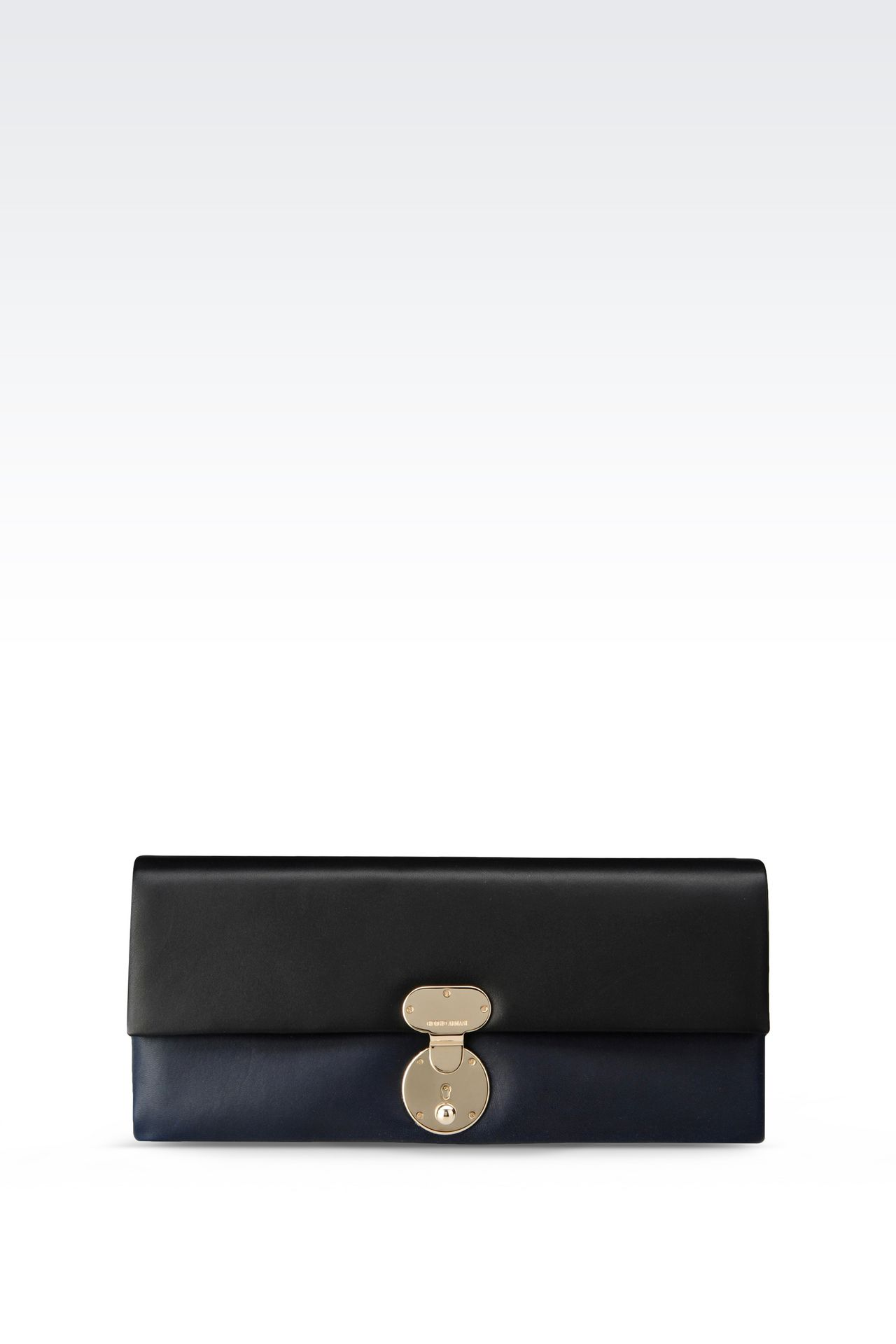 TWO-COLOUR CLUTCH IN LAMBSKIN: Clutch bags Women by Armani - 0