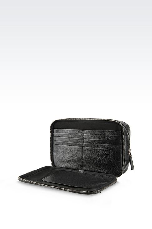 SMALL BAG IN WILD BOAR : Messenger bags Men by Armani - 4