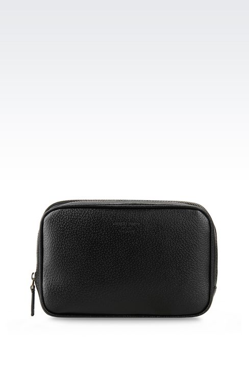 SMALL BAG IN WILD BOAR : Messenger bags Men by Armani - 1