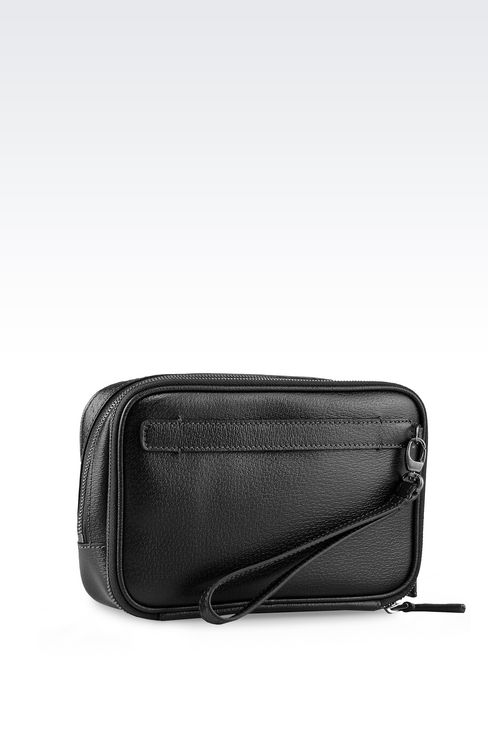 SMALL BAG IN WILD BOAR : Messenger bags Men by Armani - 2