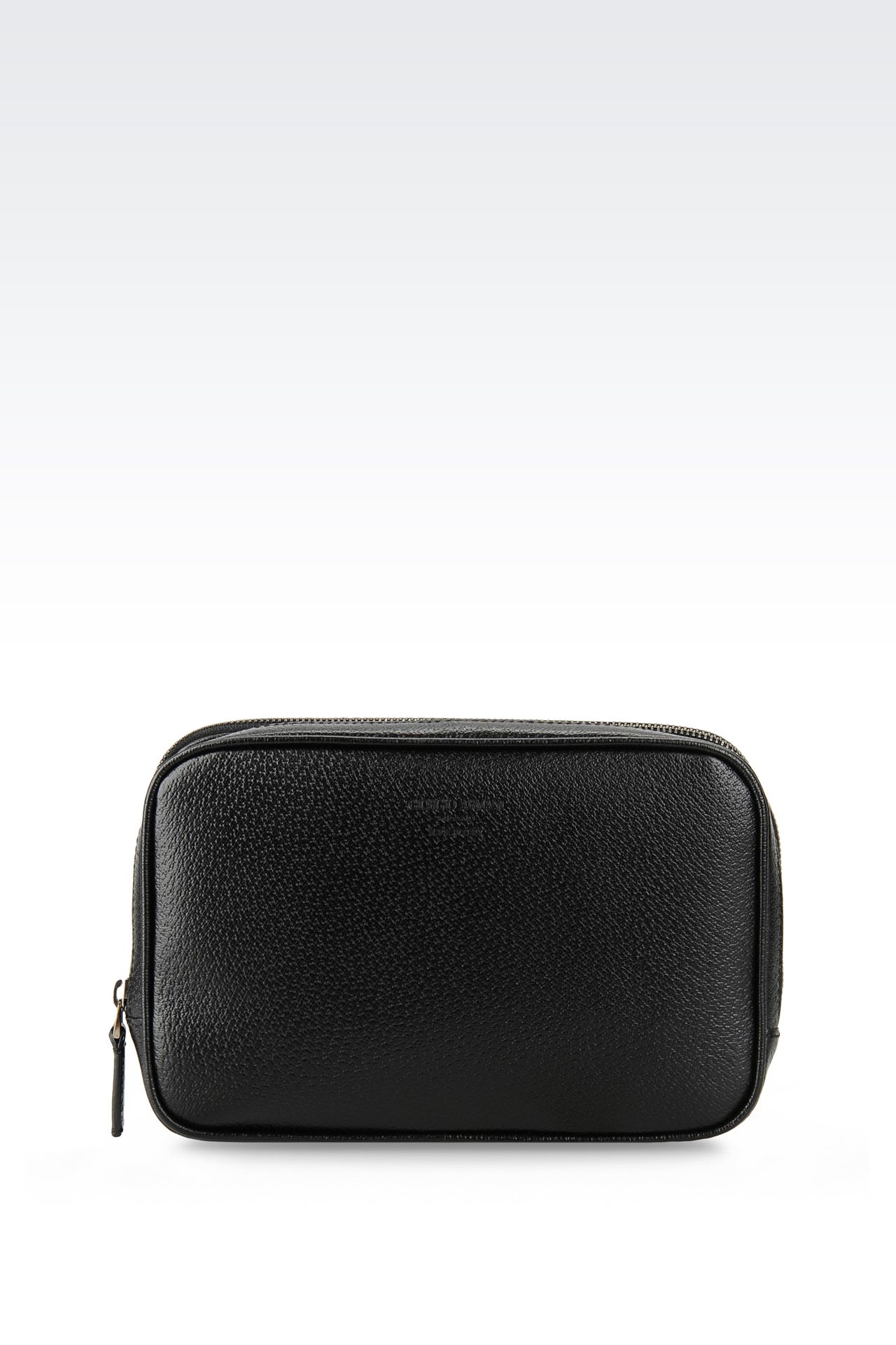 SMALL BAG IN WILD BOAR : Messenger bags Men by Armani - 0