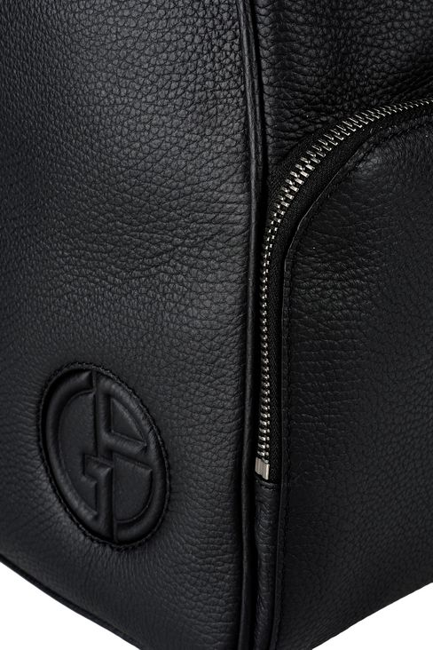BACKPACK IN TUMBLED CALFSKIN: Backpacks Men by Armani - 4