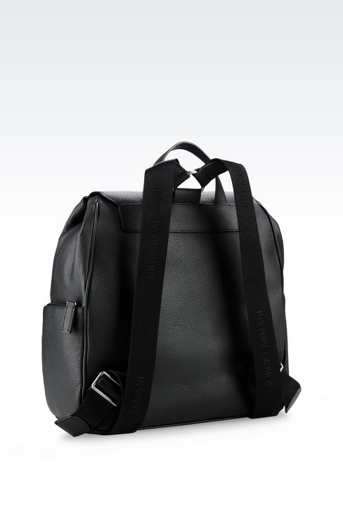 BACKPACK IN TUMBLED CALFSKIN: Backpacks Men by Armani - 2