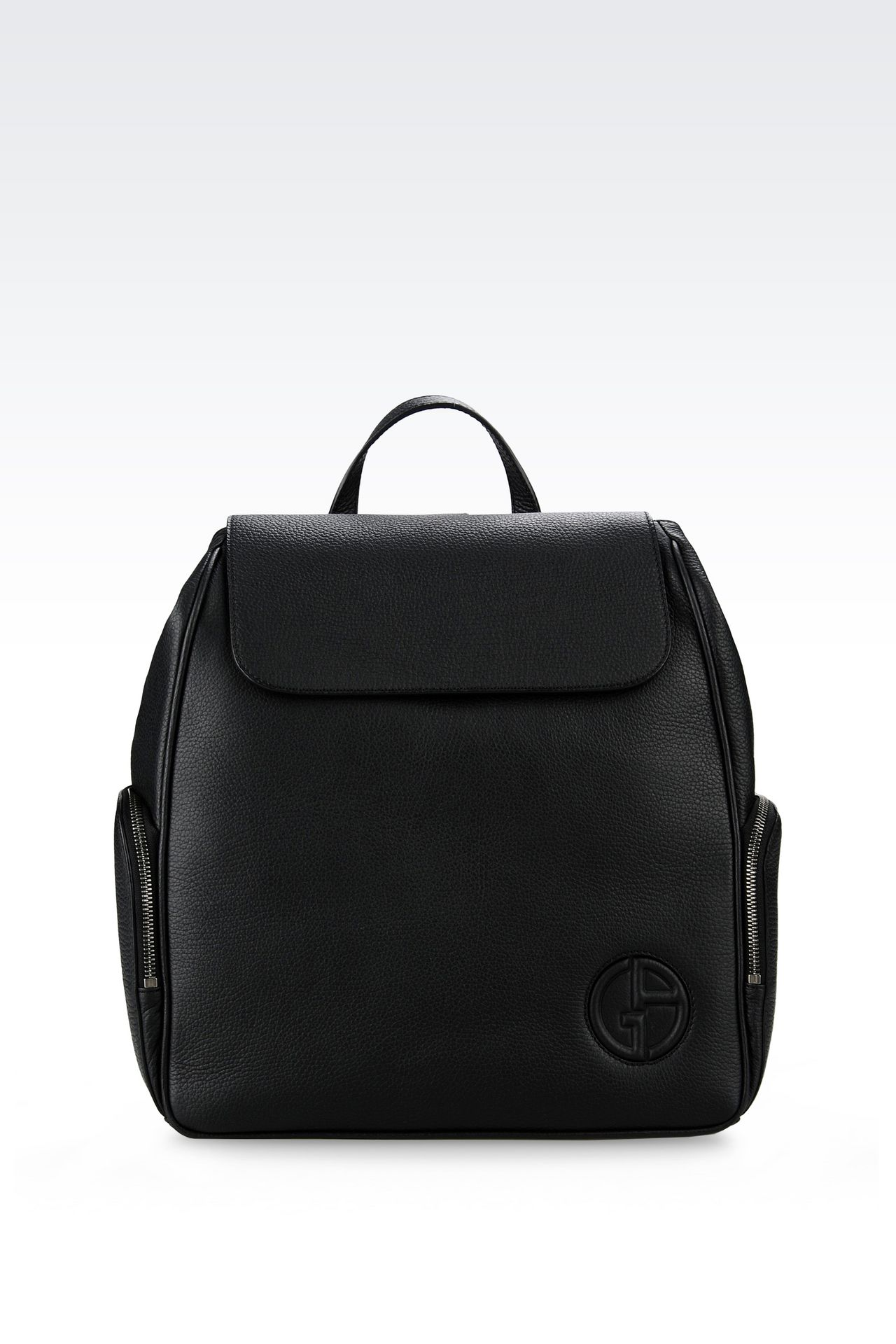 BACKPACK IN TUMBLED CALFSKIN: Backpacks Men by Armani - 0