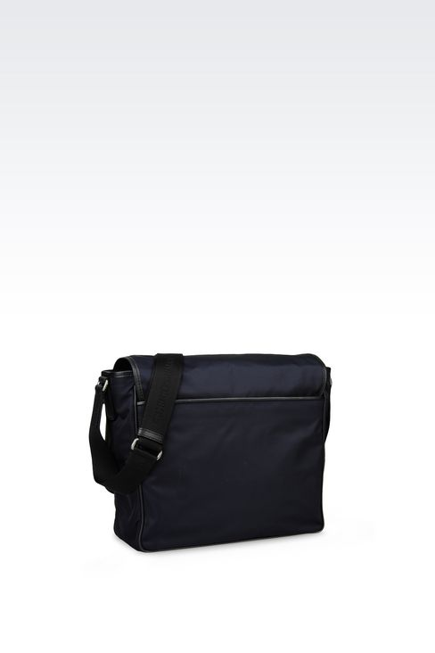 MESSENGER BAG IN TECHNICAL FABRIC AND SAFFIANO: Messenger bags Men by Armani - 2