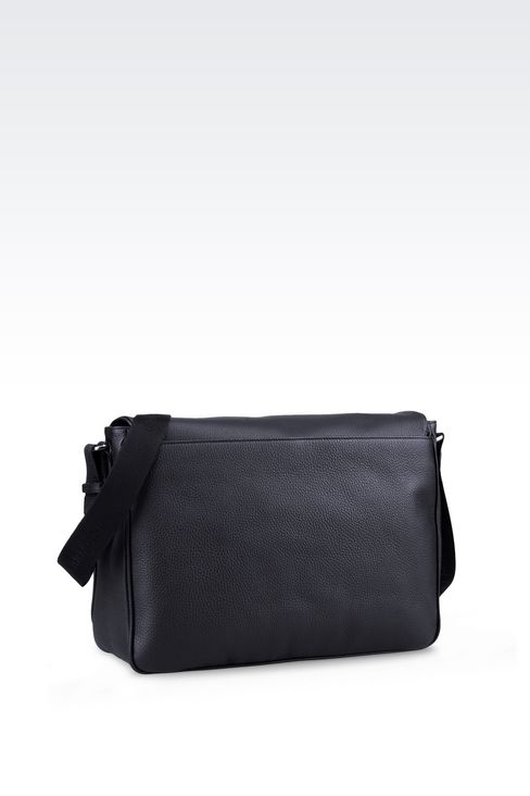 MESSENGER BAG IN TUMBLED CALFSKIN: Messenger bags Men by Armani - 2