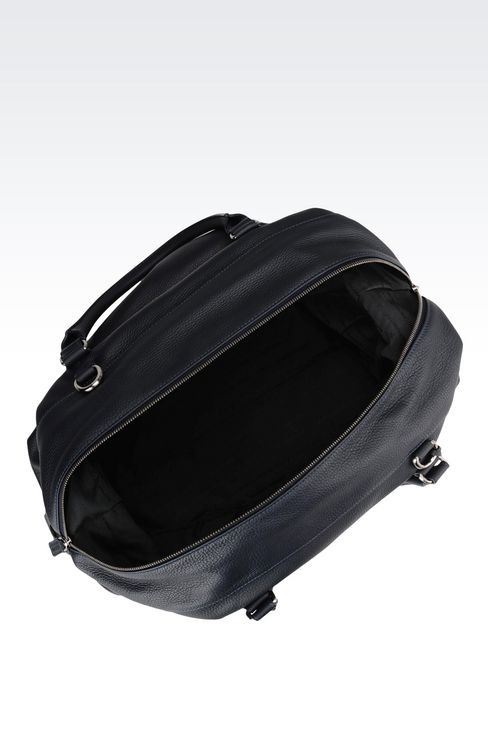 WEEKEND BAG IN TUMBLED CALFSKIN: Travel bags Men by Armani - 3