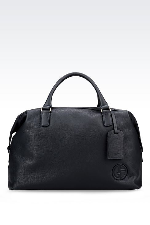 WEEKEND BAG IN TUMBLED CALFSKIN: Travel bags Men by Armani - 1