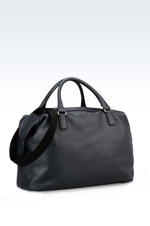 WEEKEND BAG IN TUMBLED CALFSKIN: Travel bags Men by Armani - 2