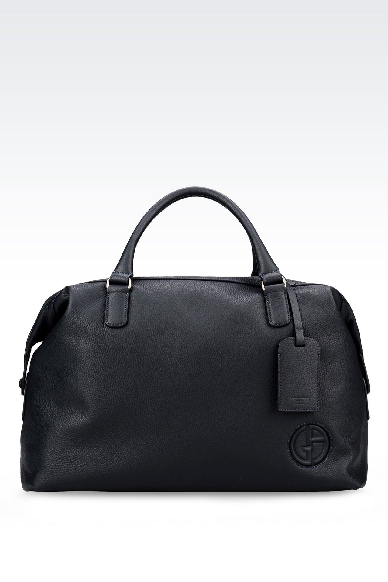 WEEKEND BAG IN TUMBLED CALFSKIN: Travel bags Men by Armani - 0