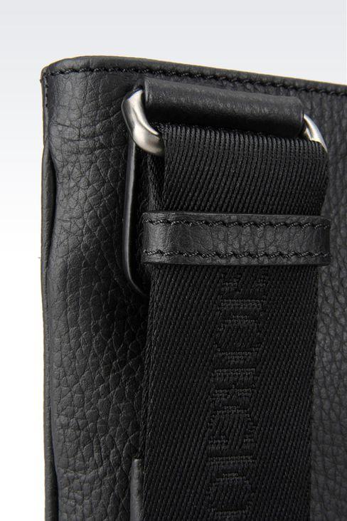 FLAT MESSENGER BAG IN TUMBLED CALFSKIN: Messenger bags Men by Armani - 4