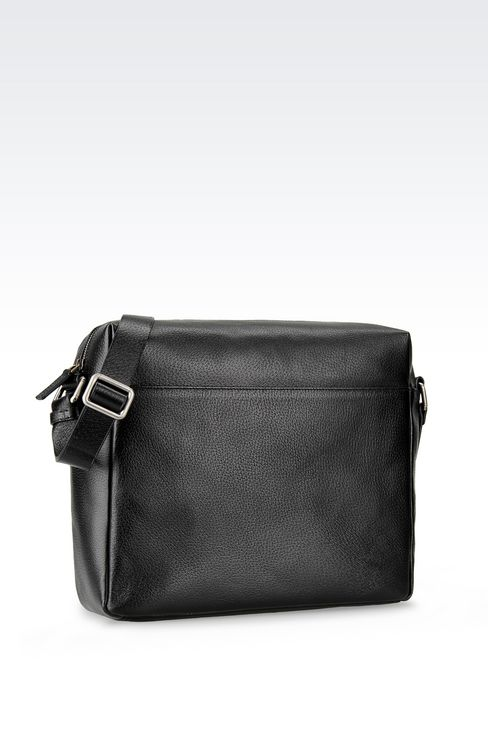 SHOULDER BAG IN WILD BOAR: Messenger bags Men by Armani - 2