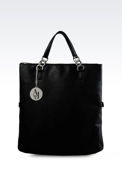 TOTE BAG IN MATT FAUX LEATHER: Shoppers Women by Armani - 1