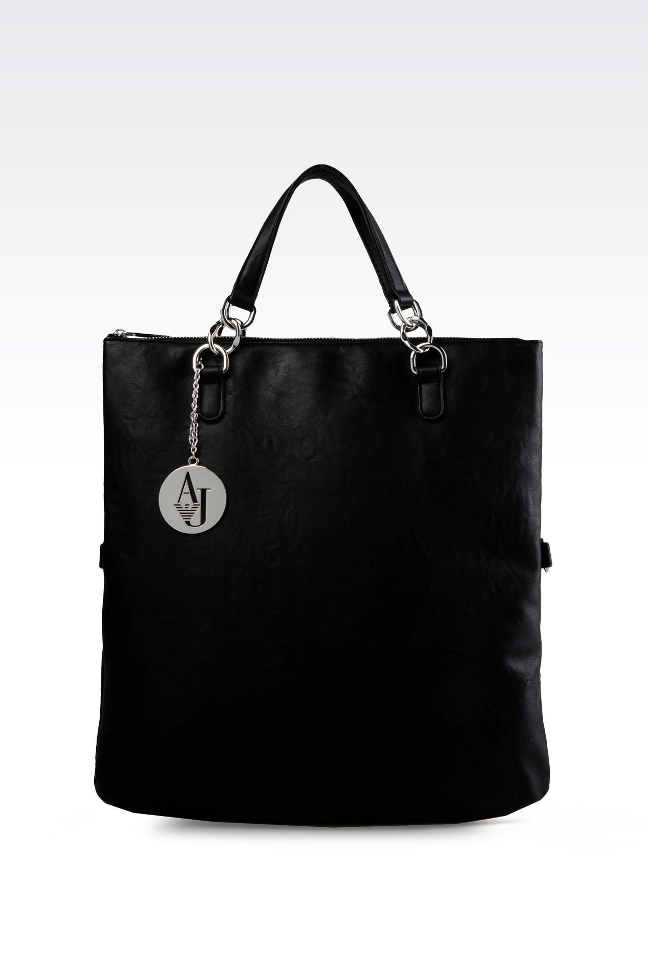 TOTE BAG IN MATT FAUX LEATHER: Shoppers Women by Armani - 0