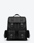 Rock Backpack in Black Leather