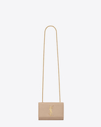 Classic Small Monogram Saint Laurent Satchel  in Powder Grain de Poudre Textured Leather