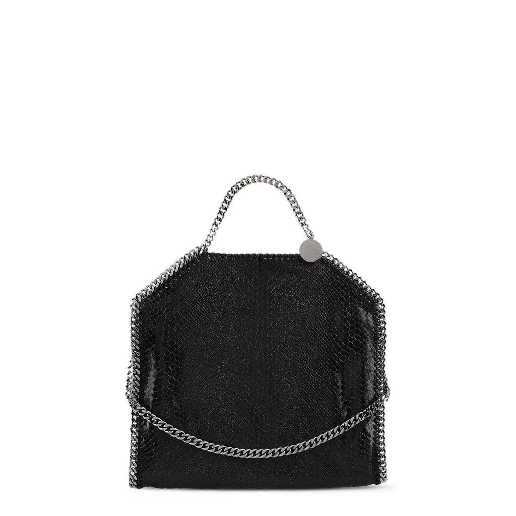 Falabella Alter Snakeskin Fold Over Tote
