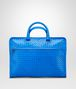 BOTTEGA VENETA Signal Blue Intrecciato Light Calf Briefcase Business bag U fp