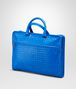 BOTTEGA VENETA Signal Blue Intrecciato Light Calf Briefcase Business bag U rp