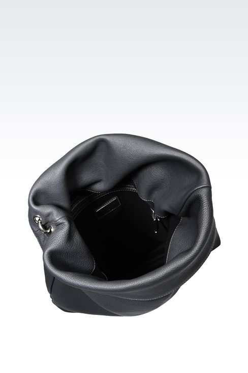 SHOULDER BAG IN PRINTED CALFSKIN: Messenger bags Men by Armani - 3