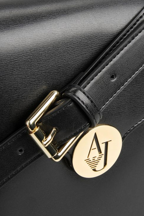 SHOULDER BAG IN GLOSSY FAUX LEATHER: Messenger bags Women by Armani - 4