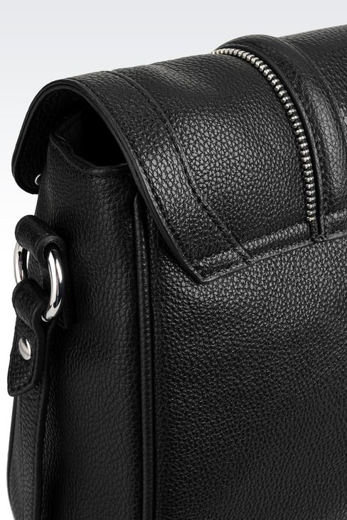SHOULDER BAG IN TUMBLED FAUX LEATHER: Shoulder bags Women by Armani - 4