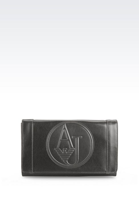 SHOULDER BAG IN FAUX LEATHER WITH CHARM: Messenger bags Women by Armani - 1