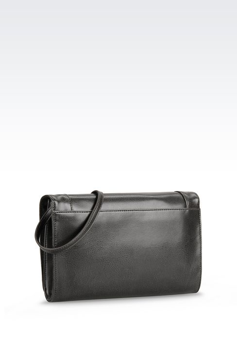 SHOULDER BAG IN FAUX LEATHER WITH CHARM: Messenger bags Women by Armani - 2