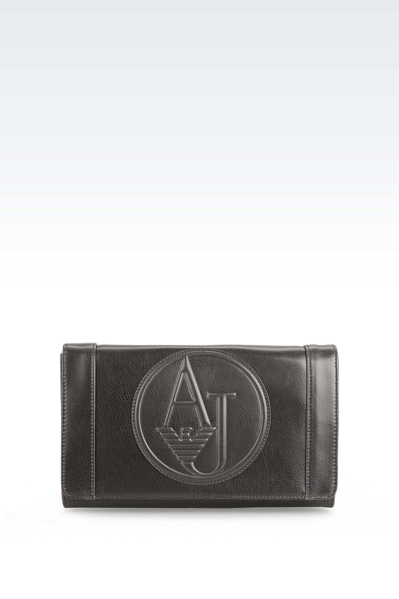 SHOULDER BAG IN FAUX LEATHER WITH CHARM: Messenger bags Women by Armani - 0