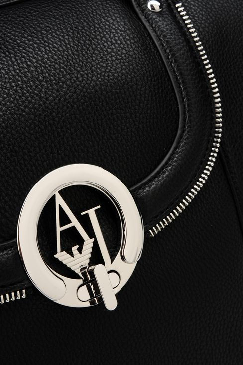 TOTE BAG IN TUMBLED FAUX LEATHER: Shoppers Women by Armani - 4
