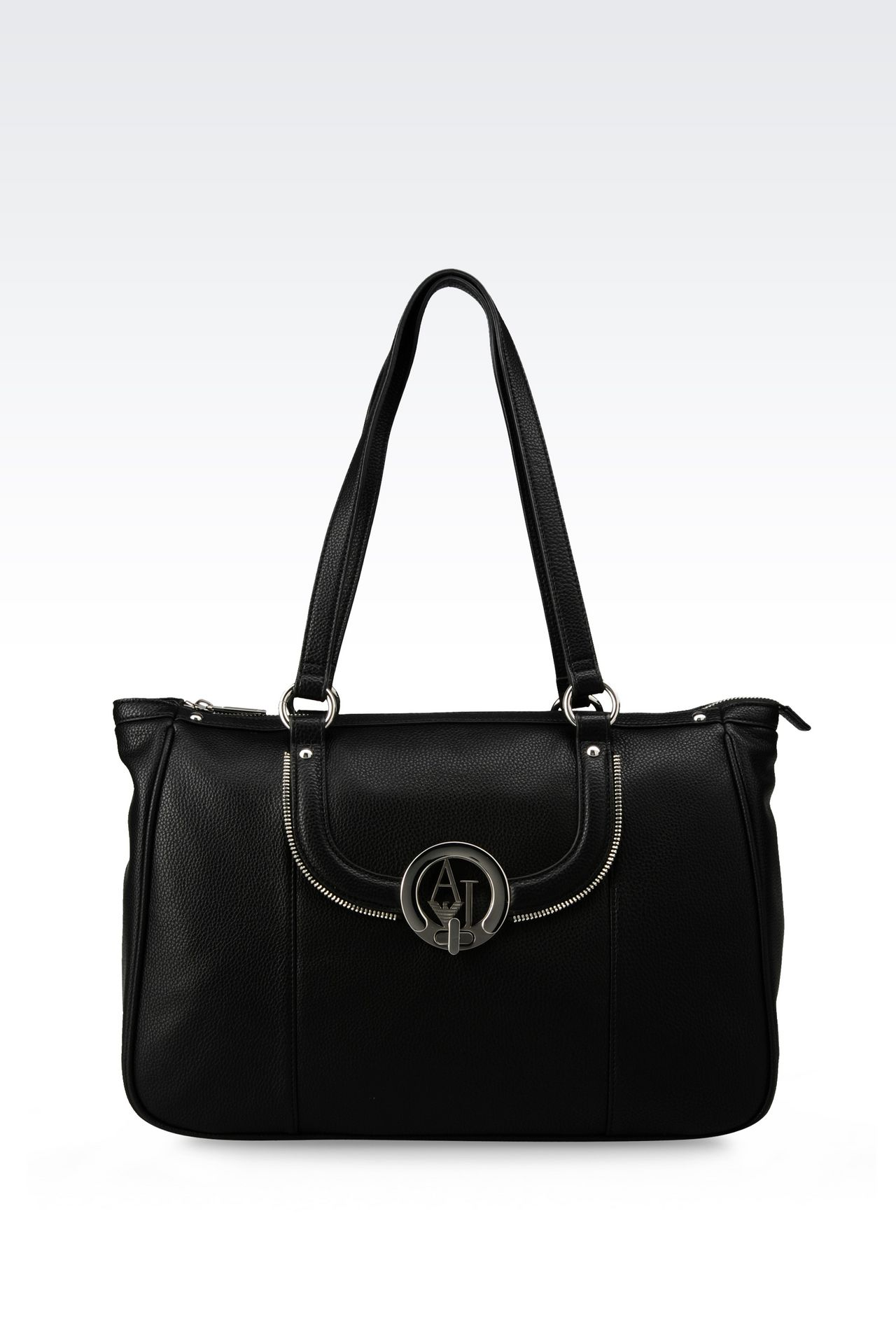 TOTE BAG IN TUMBLED FAUX LEATHER: Shoppers Women by Armani - 0