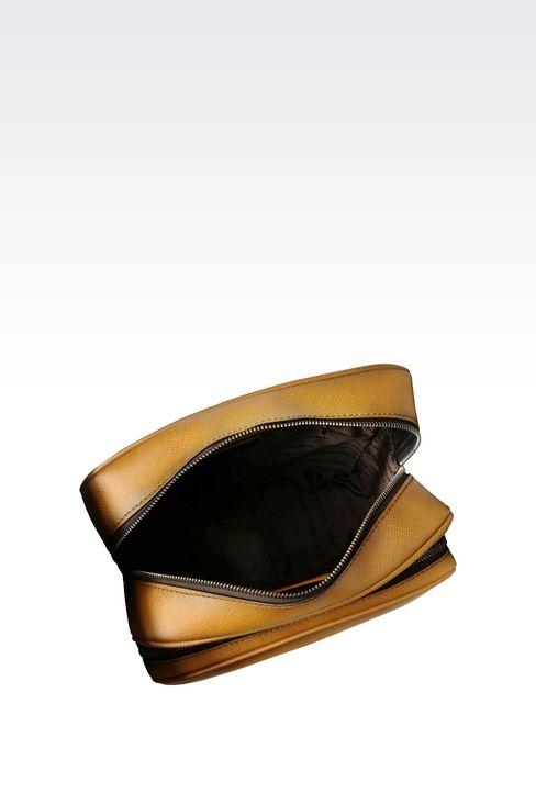 SHOULDER BAG IN BRUSHED SAFFIANO CALFSKIN: Messenger bags Men by Armani - 3