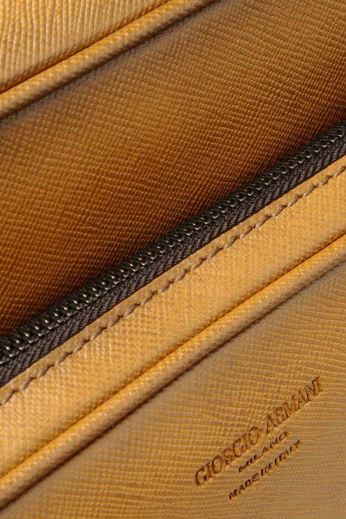 SHOULDER BAG IN BRUSHED SAFFIANO CALFSKIN: Messenger bags Men by Armani - 4