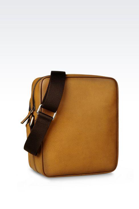 SHOULDER BAG IN BRUSHED SAFFIANO CALFSKIN: Messenger bags Men by Armani - 2
