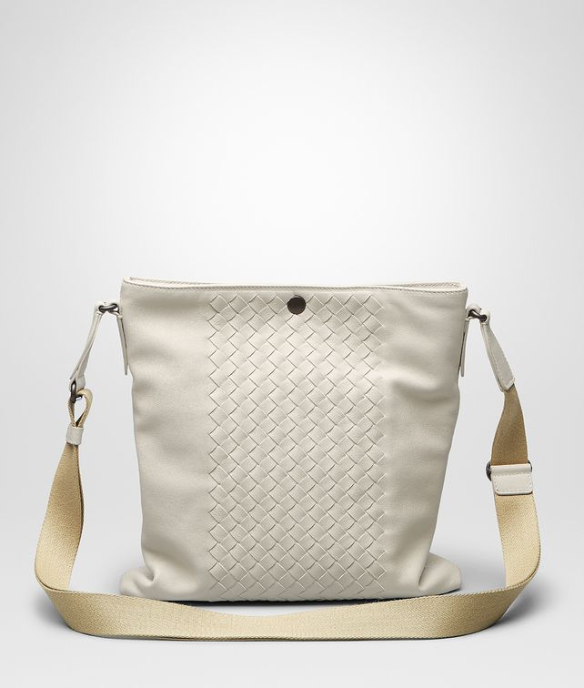 BOTTEGA VENETA Mist Intrecciato Washed Nappa Cross Body Messenger Messenger Bag U fp