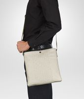 Mist Intrecciato Washed Nappa Cross Body Messenger