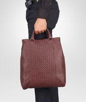 Aubergine Intrecciato Washed Nappa Tote Bag