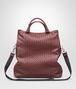 BOTTEGA VENETA SHOPPER AUBERGINE IN NAPPA LAVATA INTRECCIATA Borsa Shopping U fp