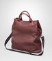 BOTTEGA VENETA SHOPPER AUBERGINE IN NAPPA LAVATA INTRECCIATA Borsa Shopping U rp