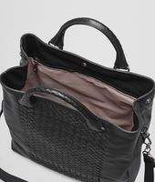 BORSA SHOPPING IN INTRECCIATO NAPPA NERO