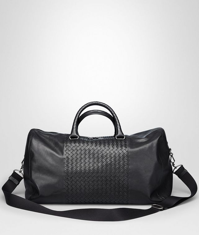 BOTTEGA VENETA Nero Intrecciato Washed Nappa Duffel bag Trolley and Carry-on bag U fp