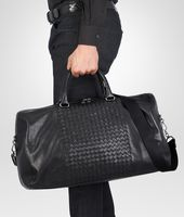 Nero Intrecciato Washed Nappa Duffel bag